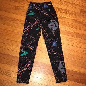 Pants - Vintage high waist paint splatter pants